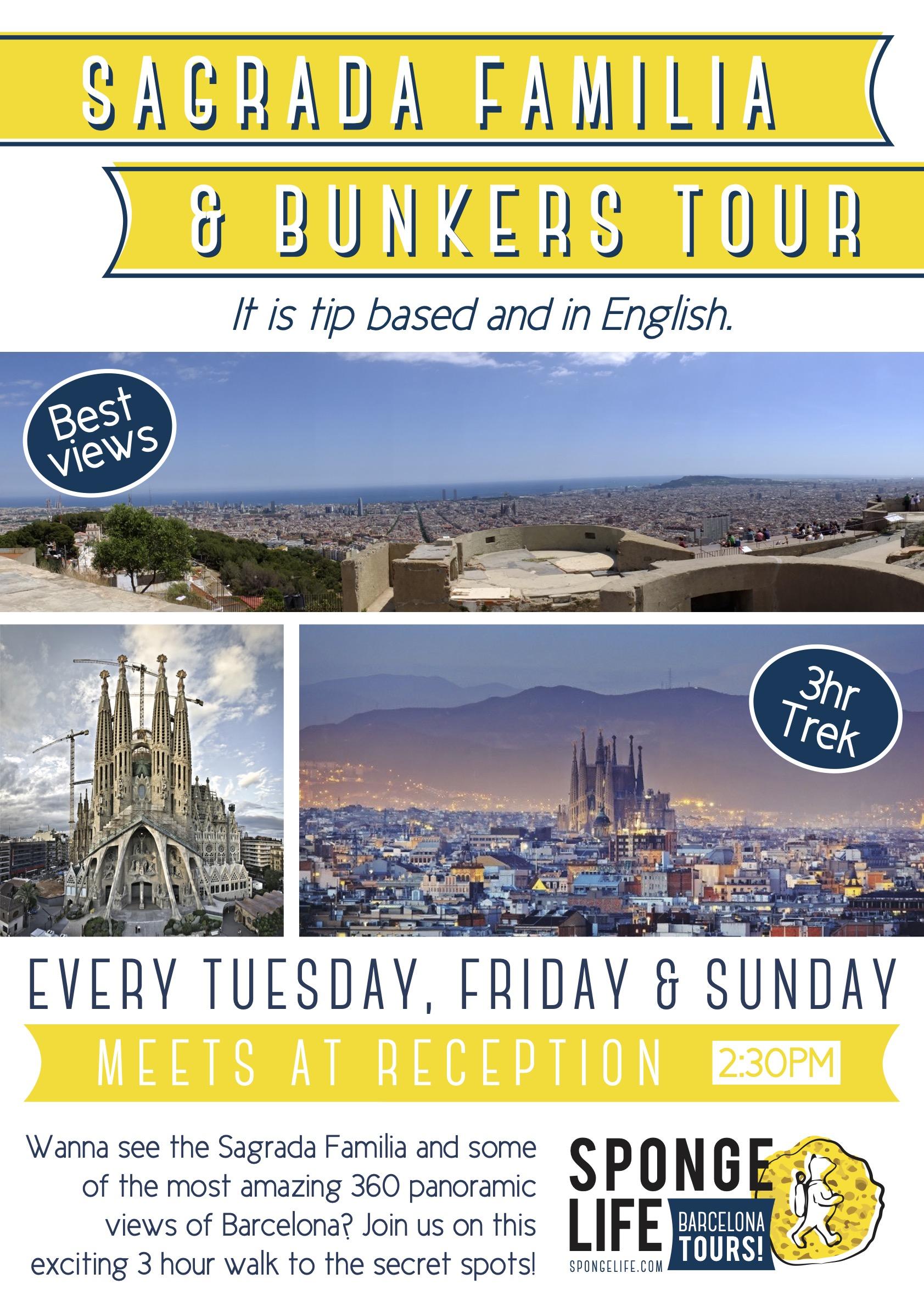 Sagrada Familia & Bunkers Tour 1430